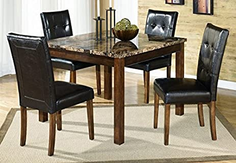 ashley furniture signature design theo dining room set 1 table and 4 chairs