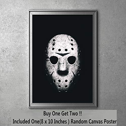 Blood Friday Jason Mask Moive Canvas Art Print 20 x 25 cm,Not Included Frame -