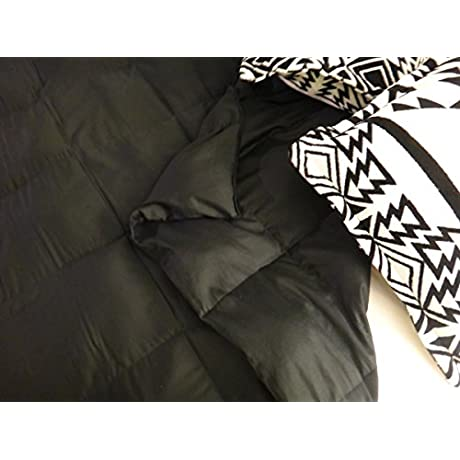 Lifetime Sensory Solutions Queen Bed Weighted Blanket Black Sateen 25 Lb
