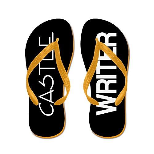 CafePress Castle Writer - Flip Flops, Funny Thong Sandals, Beach Sandals Orange