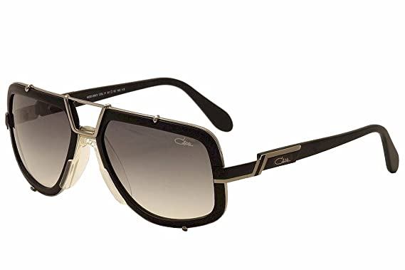 9262b2580dc6 Cazal 656 3 Sunglasses 11SG Matte Black Silver Frame Gray Gradient Lens