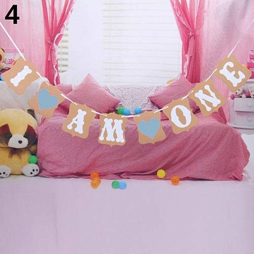 Party DIY Decorations - Fashion Baby Shower Heart Banner Garland Hanging Bunting Flag Party Decor Props - Rabbit School Banner Party Day Easter Halloween Fabric Party Of Garland Decor Conf ()