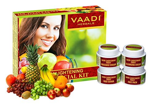 Vaadi Herbals Facial Kit - Skin-Lightening Fruit Facial Kit - All Natural - Suitable For All Skin Types And Both For Men And Women - 70 Grams (Facial Lightening)