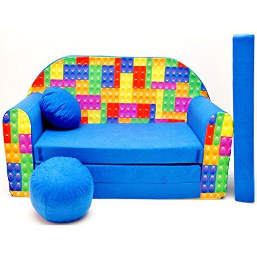 Kindersofa Bettfunktion 3in1 Sofa Kindersessel Ausziehbett Bett Bettmix