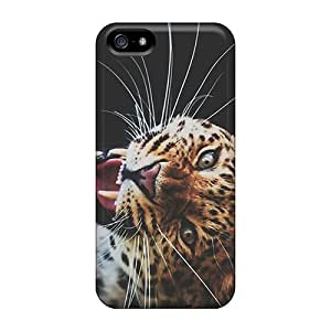 Cute Tpu Johnlatisee Leopard Roaring Case Cover For Iphone 5/5s