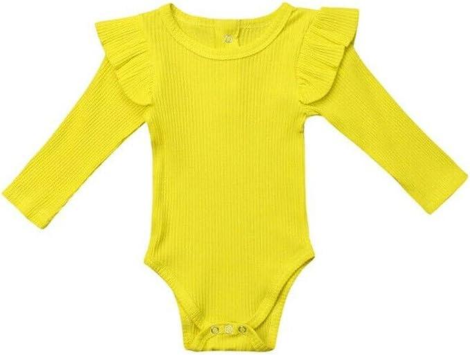 TWIFER Ropa Bebé Niñas Niños Manga Larga Color sólido Bebé Body ...