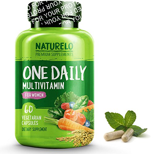 Whole Food (NATURELO One Daily Multivitamin for Women - Best for Hair, Skin, Nails - Natural Energy Support - Whole Food Supplement - Non-GMO - No Soy - Gluten Free - 60 Capsules | 2 Month Supply)