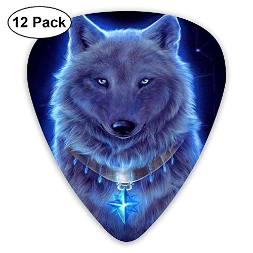 Wolf Cross Crucifix Guitar Picks 12pack Celluloid Plectrum Custom Gift for Musician