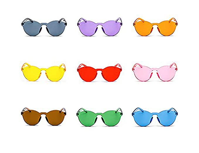 Amazon.com: Marco anteojos de sol transparente Candy Color ...