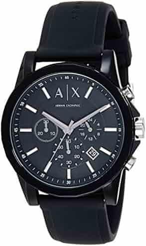 Armani Exchange Men's AX1326 Black Silicone Watch