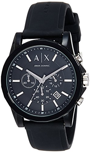 Armani Exchange Men's AX1326 Black Silicone Watch