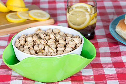 Pistachio Bowl with Shell Storage - Double Dish Snack Serving Bowl - for Pistachios, Peanuts, Edamame, Cherries, Nuts, Fruits, Candies - by Kitchen Winners by Kitchen Winners (Image #3)