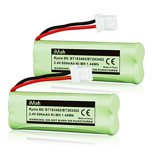 iMah BT183482/BT283482 2.4V Ni-MH Cordless Phone Battery Compatible with Vtech DS6401 DS6421 DS6422 DS6472 LS6405 LS6425 LS6426 LS6475 LS6476 89-1348-01 DECT 6.0 Home Handset, Pack of - Metal Phone Nickel Hydride Cordless