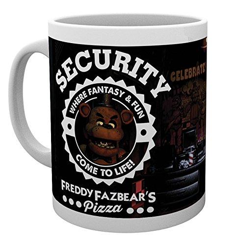 GB eye Five Nights at Freddys, Security, Mug, Wood, Multi-Colour, 15 x 10 x 9 cm