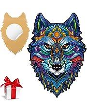 SAKHRI PARIS®   Houten puzzel voor volwassenen, dieren van Parijs met lijm   Max van de wolf van Parijs   puzzel, familiespellen, origineel, kinderen, idee, cadeau, educatieve hobby's, intellectuele ontwikkeling