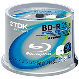 TDK 録画用ブルーレイディスク BD-R 25GB 1-4倍速 50枚スピンドル