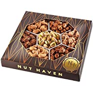 Holiday Gift Basket   Fresh Sweet & Salty Dry Roasted Gourmet Nuts Gift Basket   Fantastic Food Gift Basket for Thanksgiving, Fathers Day, Sympathy, Family, Men & Women   Prime Delivery