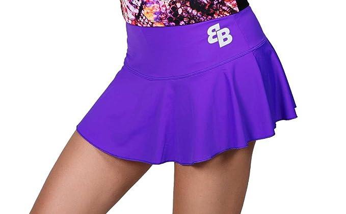 Desconocido Falda Basica Chica Viola para Tenis Y Padel - M ...