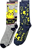 Pokemon Big Boys' 2pk Crew Socks, Assorted Dark, 10-13