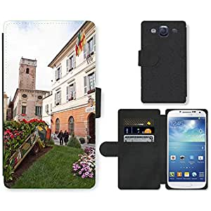 Hot Style Cell Phone Card Slot PU Leather Wallet Case // M00169608 Space Town Hall Italy Liguria // Samsung Galaxy S3 S III SIII i9300