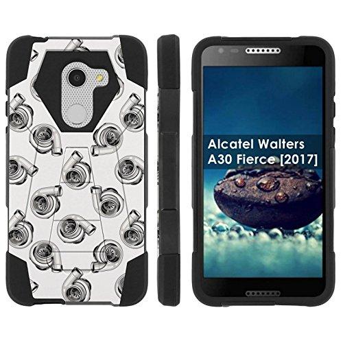([Mobiflare] Dual Layer Armor Case [Kickstand] for Alcatel REVVL /Alcatel Walters / Alcatel A30 Fierce [2017] [Black/Black] Mil-Spec - [Turbos])