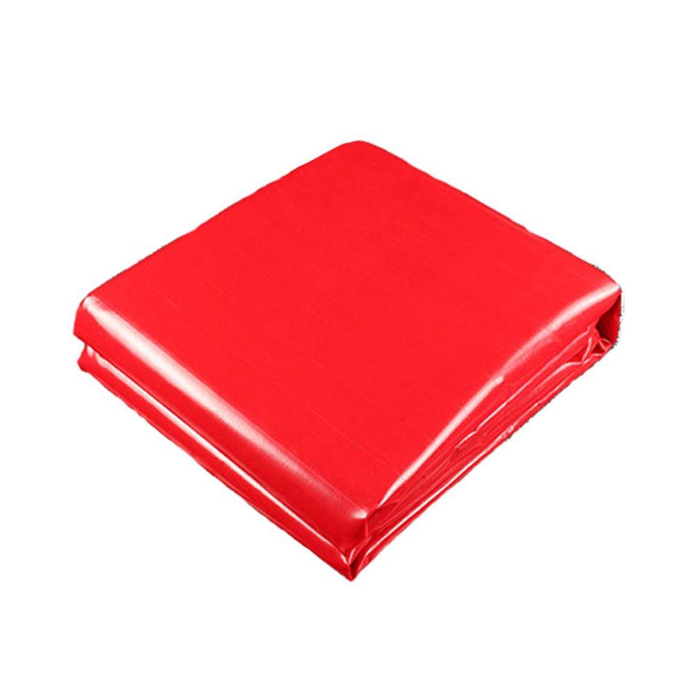 LQQGXL Rote Plane Wasserdichte Sonnenschutz LKW-Plane Abriebfeste Anti-Korrosions-und Anti-Aging Wasserdichte Plane