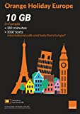 (US) Orange Holiday Europe – Prepaid SIM card – 10GB Internet Data in 4G/LTE (data tethering allowed) + 120 mn + 1000 texts in 30 countries in Europe