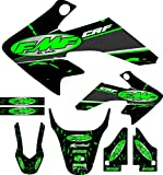 Fit 04-12 CRF50 Green FMF Graphic Kit Shroud Plastic Decal CRF 50 decal Sticker