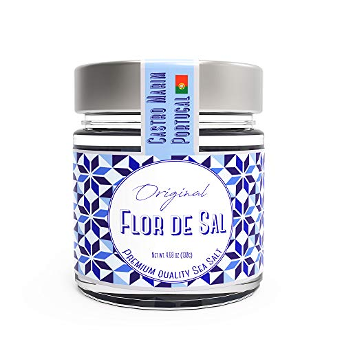 - Fleur De Sel, Sea Salt from Portugal, Campo de Sal, 4.5 Ounce.