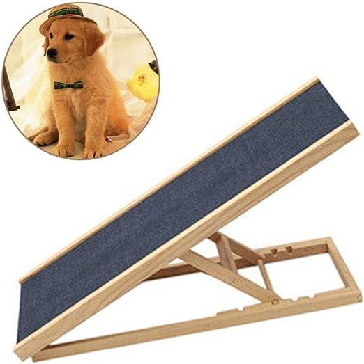 HH- Escaleras de Mascotas Gran Escalera de Rampa para Mascotas Perro de Madera para El Coche Hight Sofá Cama, Plegable Seguridad Escaleras de Mascotas, Portátil Y Ligero (Size : Length 100cm): Amazon.es: