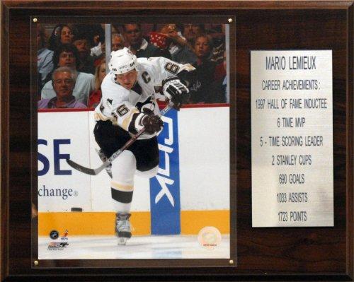 NHL Mario Lemieux Pittsburgh Penguins Career Stat Plaque