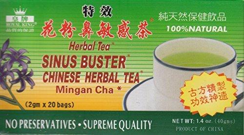 - Royal King Sinus Buster Chinese Herbal Tea (40g)(20 Bags X 2g Each) - 12 Boxes