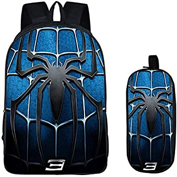 Kids Spiderman America Captain Batman 3D Cartoon School Bags Backpack Book Bags