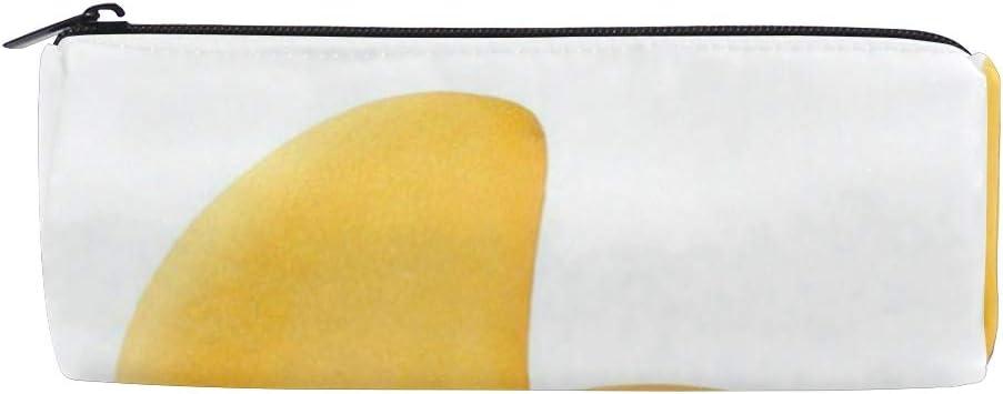 Estuche para lápices de mango, color amarillo fresco, para la escuela, para niños, gran capacidad, para maquillaje, cosméticos, oficina, bolsa de viaje: Amazon.es: Oficina y papelería