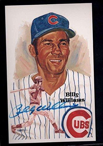 1987 Perez Steele (1987 Perez Steele #199 Billy Williams Authentic On Card Autograph Signature Au66 - Baseball Slabbed Autographed Rookie Cards)