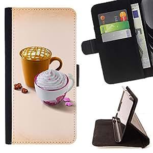 For HTC DESIRE 816,S-type Diseñar Whip lindo café- Dibujo PU billetera de cuero Funda Case Caso de la piel de la bolsa protectora