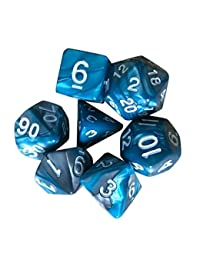 Rokment 7pcs/Set TRPG Game Dungeons & Dragons Polyhedral D4-D20 Multi Sided Acrylic Dice for Kid Gift (D) BOBEBE Online Baby Store From New York to Miami and Los Angeles