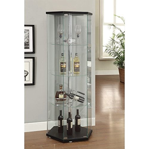 Coaster 950276 Home Furnishings Curio Cabinet, Black