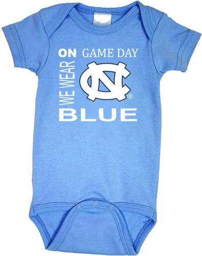 開店祝い North Carolina TarヒールUNC on Game Day Baby Onesie Onesie North B071FW81SR Baby Newborn, 甲斐市:7c8c6f02 --- svecha37.ru