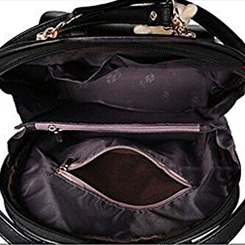 Women Backpack Bag Korean All-match Dual-purpose Bag Lady Travel Casual Multi-functional Backpack,Black by OASD (Image #6)