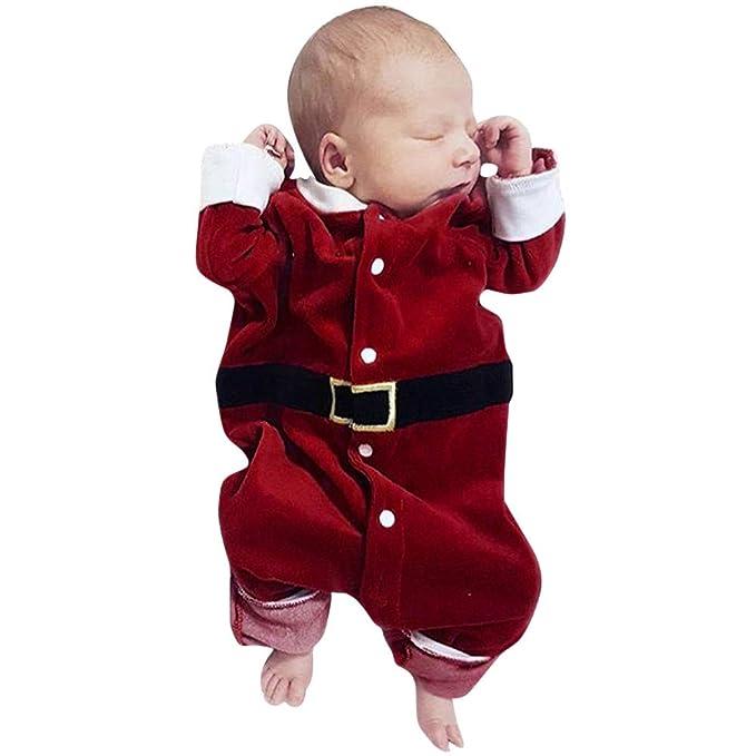 beautyjourney Navidad bebé Onesie, Saco de Dormir de Manga Larga para niños y niñas Mono Ropa de Mono de Santa Claus: Amazon.es: Ropa y accesorios