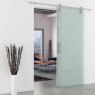 Acero inoxidable carriles-puertas correderas de cristal en DIN-izquierda o, DIN-derecha - 900 x 2050 mm: Amazon.es: Bricolaje y herramientas
