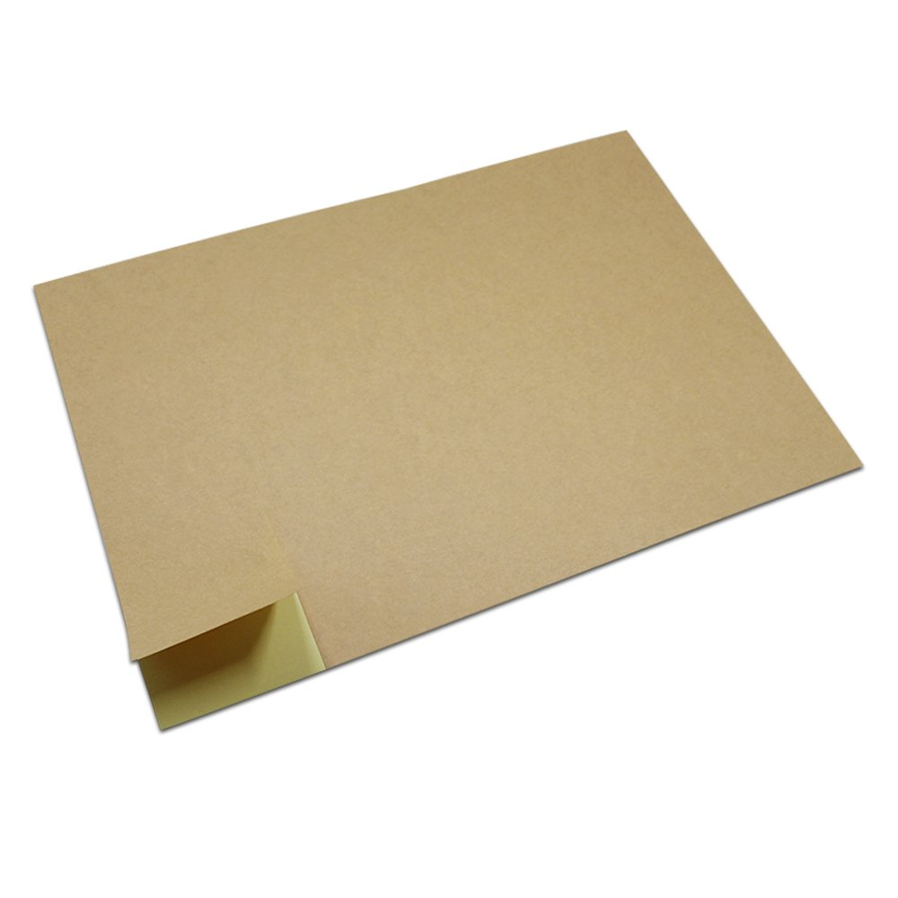 4.1x2.3 inch Brown Kraft Paper A4 Self Sealing Package Label Printer Sticker Paper for Office Supplies Cardboard Adhesive Shops Store School Library Usage Copy Multipurpose Print Paper (2400 pieces)