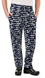 Men's Fishbone Print Chef Pant (XS-3X) (X-Large)