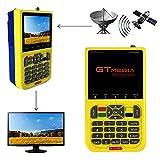 GT MEDIA V8 Finder Satellite Signal Meter Freesat TV DVB-S2 Receiver Sat Detector, HD 1080P Free to Air FTA 3.5\