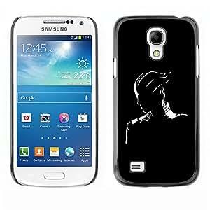 TECHCASE**Cubierta de la caja de protección la piel dura para el ** Samsung Galaxy S4 Mini i9190 MINI VERSION! ** Black & White Fantasy Character
