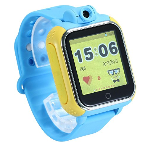T Mobile Girl Halloween Costume (KOBWA Updated GPS Tracker Kids Smartwatch Wrist Sim Watch Phone Anti-lost SOS WCDMA Children Bracelet Parent Control for Apple Iphone IOS Android Smartphone MT6572A Dual Core)