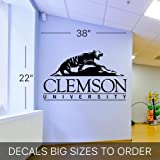 NCAA Wall Mural Vinyl Sticker Sports Logo Clemson Tigers (S150)