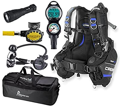 Cressi Aquaride BC, MC9 Balanced Regulator, Dive Computer, Complete Scuba Diving Gear Package