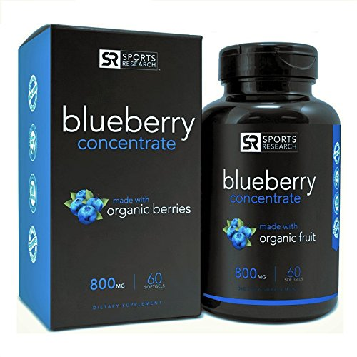 Wild Blueberry Concentrate - Made from Organic Berries | GMO & Gluten Free - Packed with Antioxidants and Phytonutrients | 60 Liquid Softgels - 2 Month Supply!